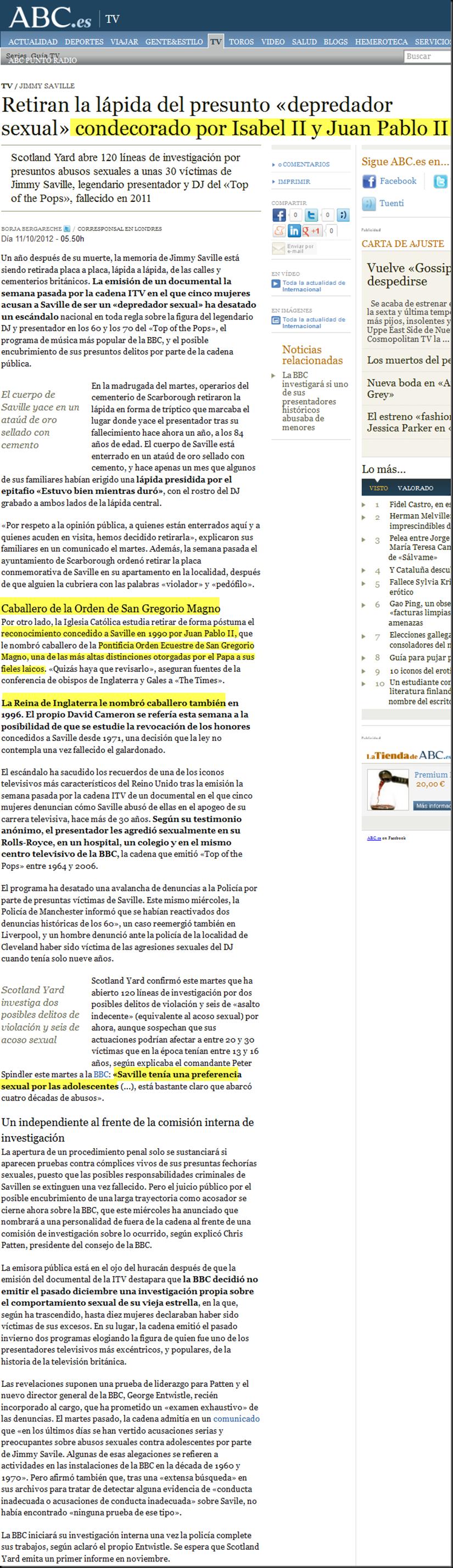 Retiran la lápida del presunto «depredador sexual» condecorado por Isabel II y Juan Pablo II Image_thumb40