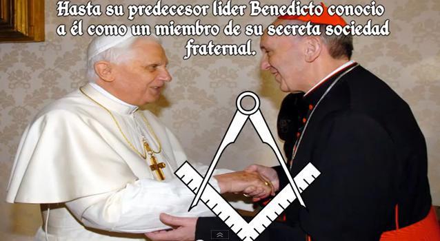 ¿SALUDO MASONICO ENTRE BENEDICTO XVI Y FRANCISCO? Fimason
