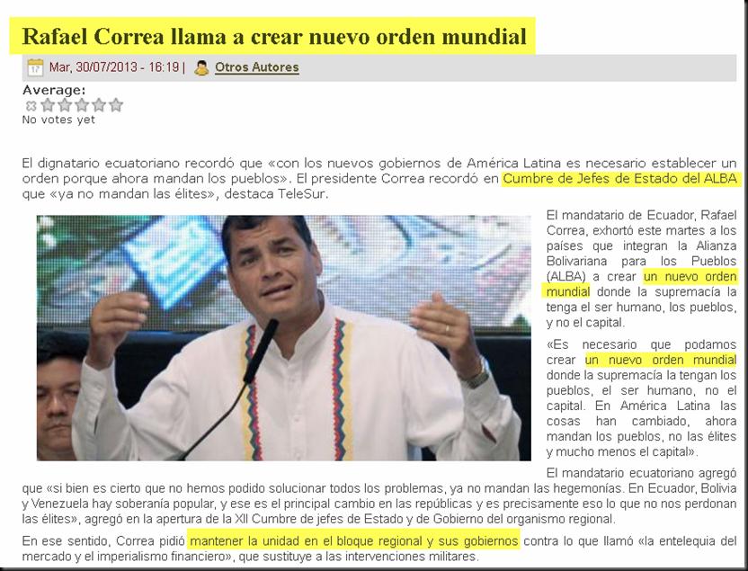 Rafael Correa y el Nuevo orden mundial Image3