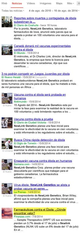 Newlink Genetics Corporation: El creador de la vacuna del ébola Image2