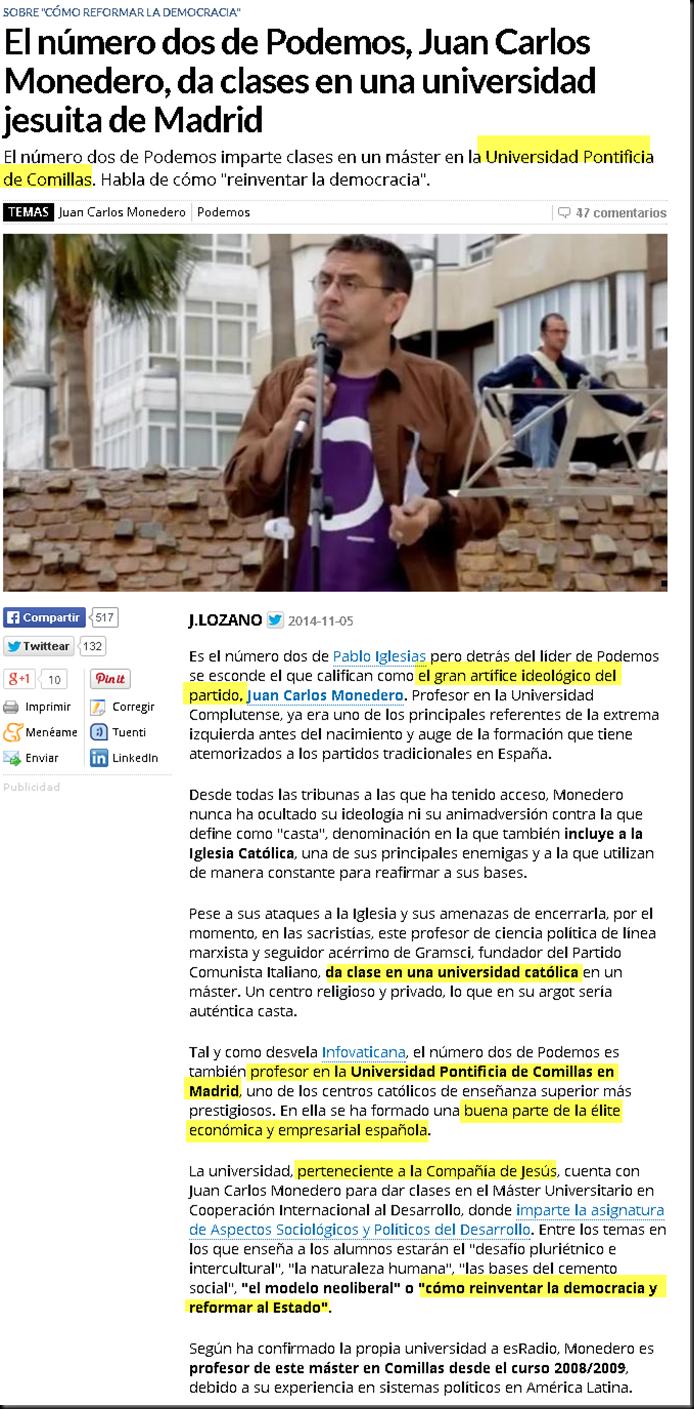 """""""El número dos de Podemos, Juan Carlos Monedero, da clases en una universidad jesuita de Madrid"""" Image_thumb"""