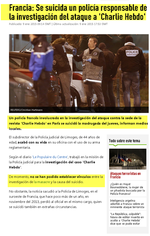Investigación sobre el Atentado Terrorista contra la revista francesa Charlie Hebdo Image8